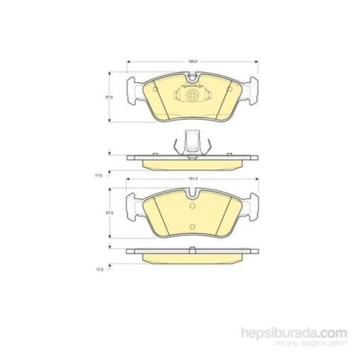 Bosch - Fren Balatası Ön (Bmw 3 Serısı (E46) (02/98-) '316 I (09.1998-) [Wva 21925] - [ 150X57,5X17,5 Mm ] - - Bsc 0 986 Tb2 209
