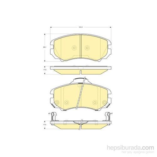 Bosch - Fren Balatası Ön (Hyundaı Coupe (Gk)(03/02-) [ 131,5X60,1X17,5 Mm ] - İkaz Kablolu - Bsc 0 986 Tb2 429