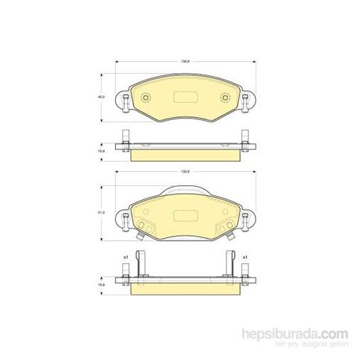 Bosch - Fren Balatası Ön (Toyota Yarıs (_Cp10)(04/99-) [ 130,8X51,0/45,0X16,8 Mm ] - İkaz Kablolu - Bsc 0 986 Tb2 443
