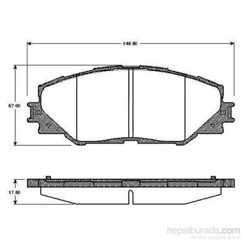 Bosch - Fren Balatası Ön (Toyota Aurıs 1.4 D-4D) [ 146,6X57,0X17,5 Mm ] - Bsc 0 986 Tb2 942