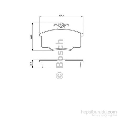 Bosch - Fren Balatası Ön Audı 80 (1.6)(78-86)100(81-82) - Bsc 0 986 465 744