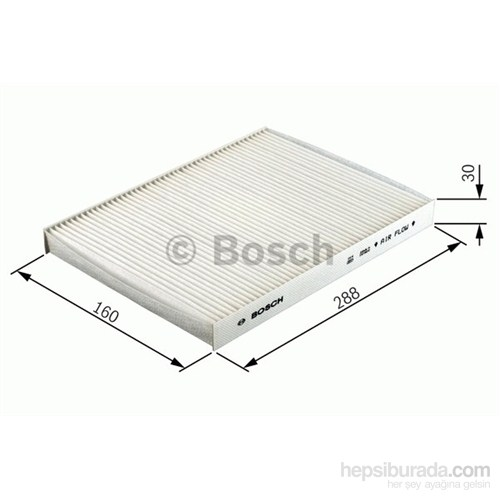 Bosch - Polen Filtresi Aktif Karbon (Fıat Bravo/Brava/Marea Tüm Modeller) - Bsc 1 987 432 303