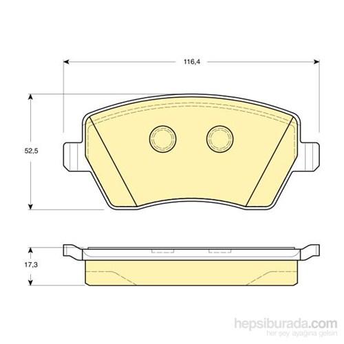 Bosch - Fren Balatası Ön Renault Clıo Iıı Nıssan Mıcra K12 - Bsc 0 986 Tb2 448