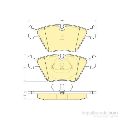 Bosch - Fren Balatası Ön (Bmw 3 Serısı (E36) (09/90-02/98) 'M3 3.0 I) [Wva 20968] - [ 156,4X63,5X20 Mm ] - - Bsc 0 986 Tb2 151