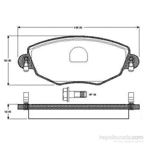 Bosch - Fren Balatası Ön (Ford Mondeo Iıı (B5y)(B4y)(Bwy)(11/00-) [Wva 23279] - [ 149X60,5X18 Mm ] - - Bsc 0 986 Tb2 819
