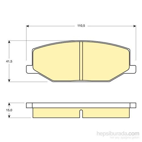 Bosch - Fren Balatası Ön (Suzukı Jımny (Fj)(09/98-) [Wva 21142] - [ 110,5X41,5X15 Mm ] - - Bsc 0 986 Tb2 100