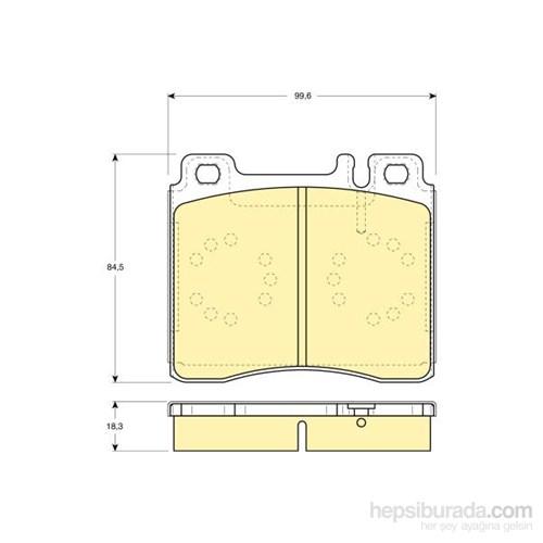 Bosch - Fren Balatası Ön (Mb S Serısı (W140)(02/91-10/98) [Wva 21303] - [ 99,6X84,5X18,3 Mm ] - - Bsc 0 986 Tb2 023