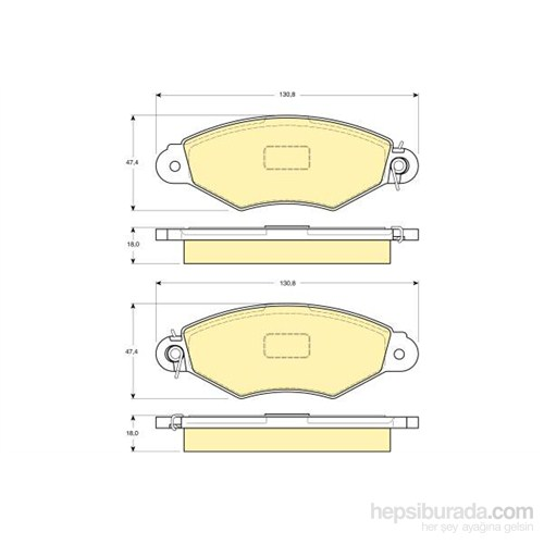 Bosch - Fren Balatası Ön Kangoo 1.4İ 1.5 Dcı 1.9D (97-07)206 1.4 1.6/Xsara 1.4 Hdı Segmanlı - Bsc 0 986 Tb2 043