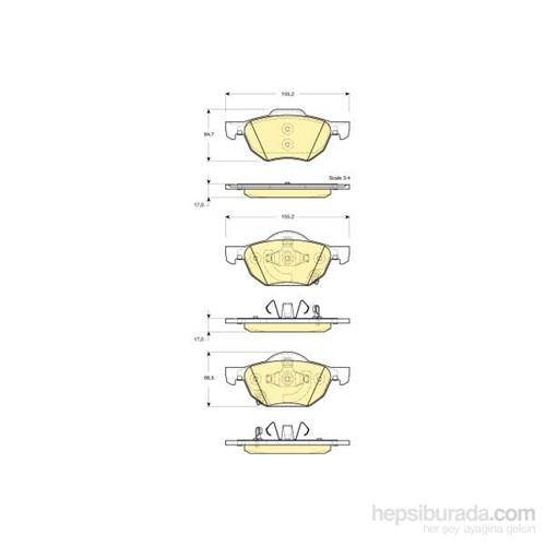 Bosch - Fren Balatası Ön (Honda Accord Vııı (02/03-) [ 155,2X64,7/68,5X17 Mm ] - İkaz Kablolu - Bsc 0 986 Tb2 873