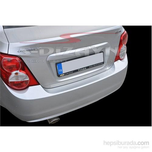 S-Dizayn Chevrolet Aveo Sd 2011> Model Ve Üzeri Bagaj Alt Çıta Krom P.Çelik