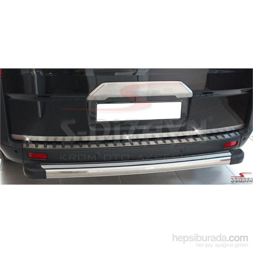 S-Dizayn Ford Tourneo Custom 2012> Model Ve Üzeri Bagaj Çıtası Krom P.Çelik ( Kameralı )