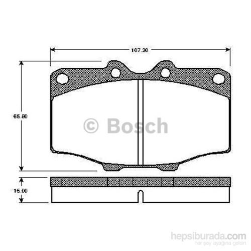 Bosch - Fren Balatası Ön (Toyota Hılux Pıck-Up (_N_)(01/84-) [Wva 20852] - [ 107,3X65,8X15 Mm ] - - Bsc 0 986 Tb2 069