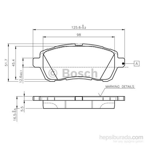 Bosch - Fren Balatası Ön Fıesta 1.4 1.6 Tdcı 08>Swıft 10>Materıa 06>Mazda Iı 07> - Bsc 0 986 Tb3 083