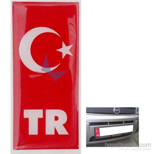 ModaCar PVC Plaka İçin Türk Bayrağı Sticker 060025