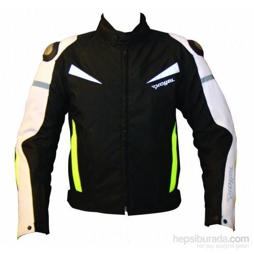 Colombia Motosiklet Mont Hörgüçlü (Sarı-Siyah)