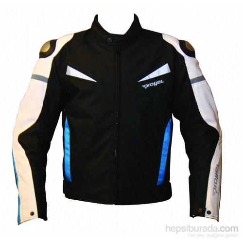 Colombia Motosiklet Mont Hörgüçlü (Mavi-Siyah)