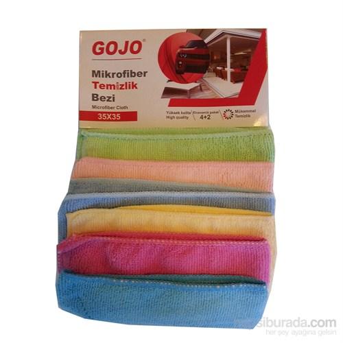Gojo Mikrofiber Temizlik ve Cila Bezi 6'lı Ekonomik Paket