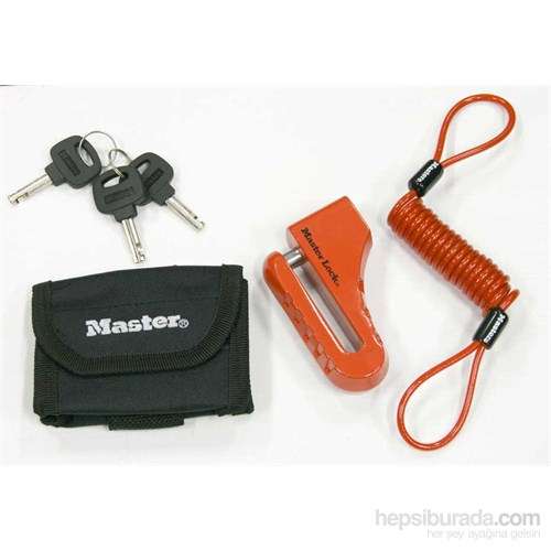Master Lock 8304 Disk Kilidi + Çanta + Hatırlatma Kablosu