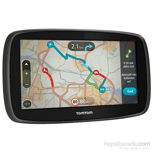 """Tomtom Go 60 Güncel Trafik 6"""" Ekranlı Akıllı Telefon Bağlantılı Navigasyon Cihazı (Ömür Boyu Ücretsiz Güncelleme)"""