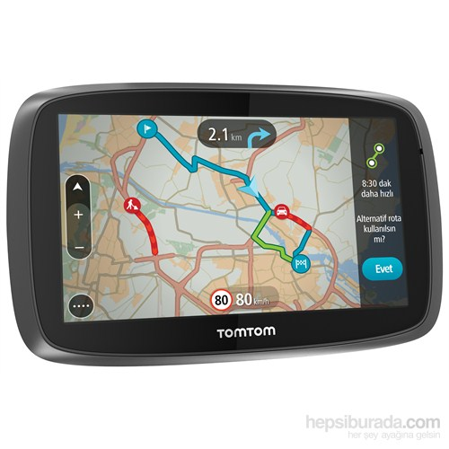 """Tomtom Go 500 Güncel Trafik 5"""" Ekranlı Akıllı Telefon Bağlantılı Navigasyon Cihazı (Ömür Boyu Ücretsiz Güncelleme)"""