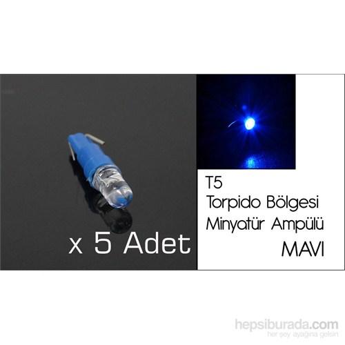 ModaCar T5 Tip TORPİDO BÖLGESİ MAVİ Ledli Ampül 01A147