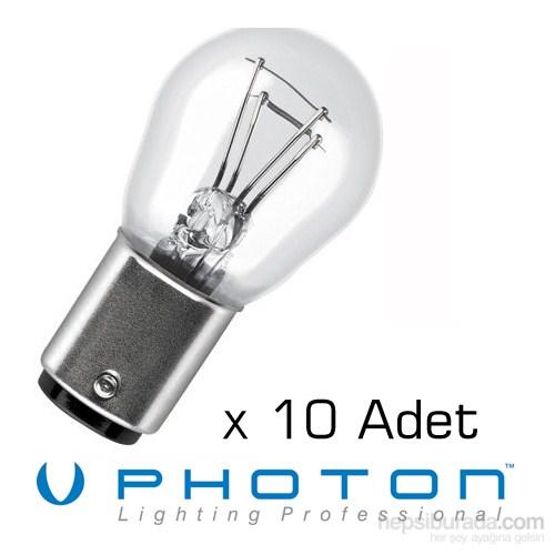 Photon 1016 Ampül 10 ADET SET 12 Volt P21/5Watt Çift Duy Ampül 01e130
