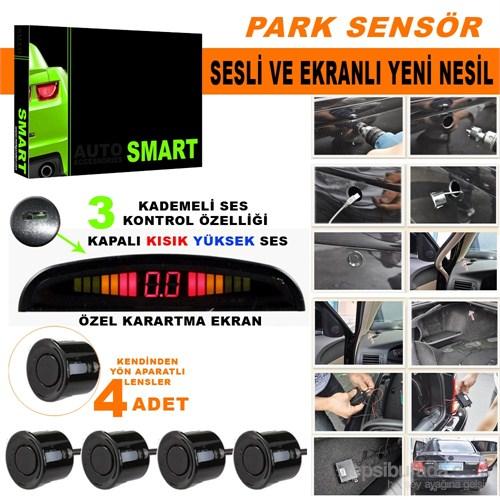 Park Sensörü Ses Kontrol Düğmeli Ekranlı Siyah Lensli