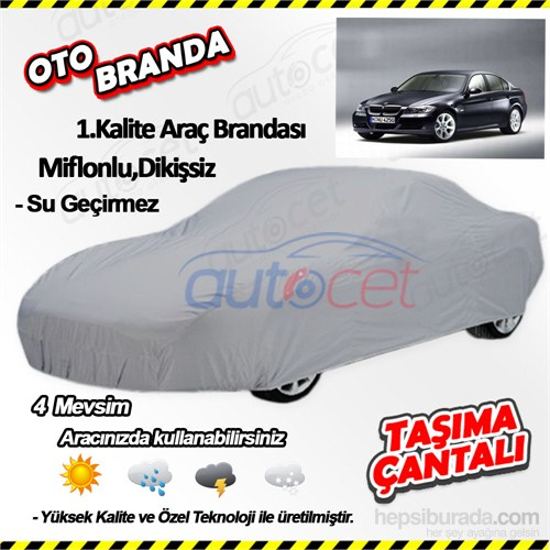 Autocet Bmw 3 Serisi Araca Özel Oto Brandası (Miflonlu, Dikişsiz) 3938A