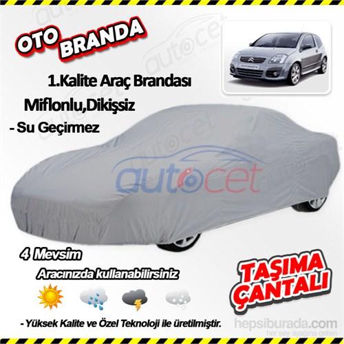 Autocet Citroen C3 Araca Özel Oto Brandası (Miflonlu, Dikişsiz) 3966A