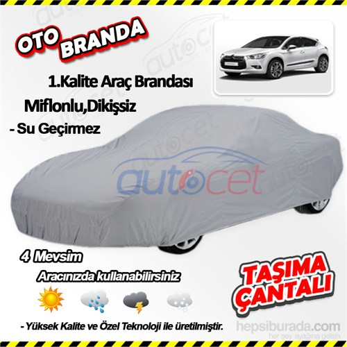 Autocet Citroen Ds4 Araca Özel Oto Brandası (Miflonlu, Dikişsiz) 3974A