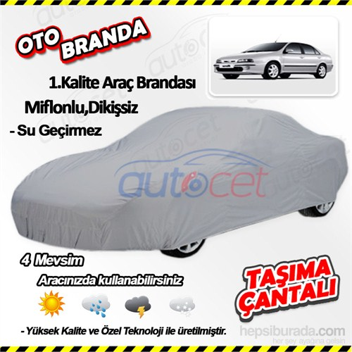 Autocet Fiat Marea Araca Özel Oto Brandası (Miflonlu, Dikişsiz) 3994A