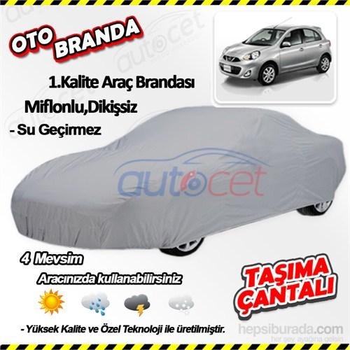 Autocet Nissan Micra Araca Özel Oto Brandası (Miflonlu, Dikişsiz) 4067A