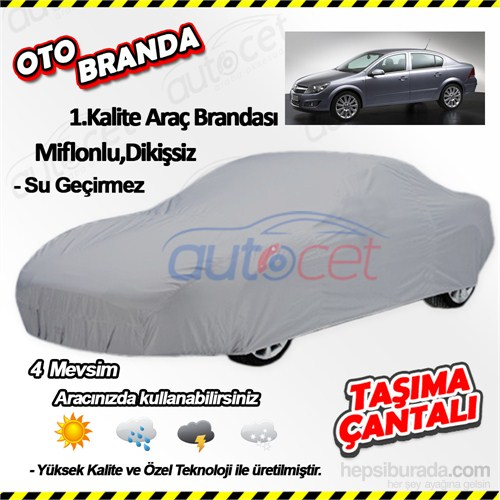 Autocet Opel Astra H Kasa Sedan Araca Özel Oto Brandası (Miflonlu, Dikişsiz) 4075A