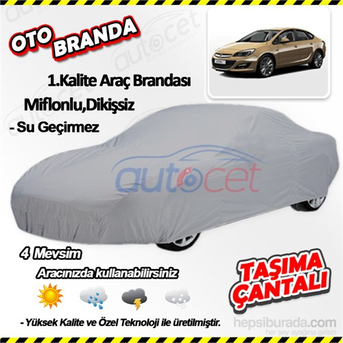 Autocet Opel Astra J Kasa Sedan Araca Özel Oto Brandası (Miflonlu, Dikişsiz) 4077A