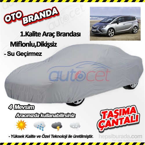 Autocet Opel Zafira Araca Özel Oto Brandası (Miflonlu, Dikişsiz) 4084A