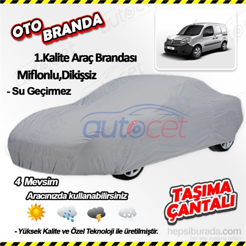 Autocet Renault Kangoo Araca Özel Oto Brandası (Miflonlu, Dikişsiz) 4109A