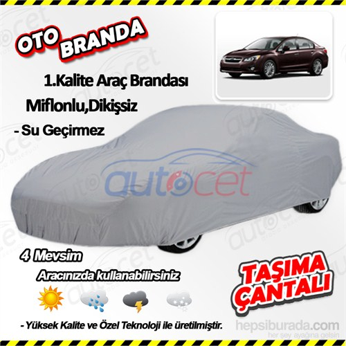 Autocet Subaru Impreza Araca Özel Oto Brandası (Miflonlu, Dikişsiz) 4136A