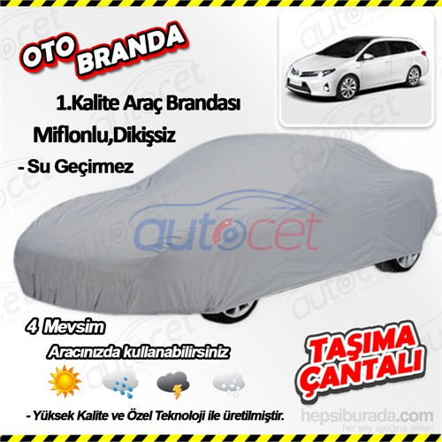 Autocet Toyota Auris Touring Sports Araca Özel Oto Brandası (Miflonlu, Dikişsiz) 4145A