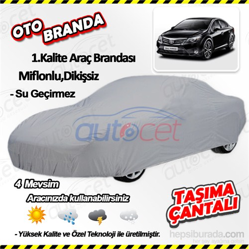 Autocet Toyota Avensis Araca Özel Oto Brandası (Miflonlu, Dikişsiz) 4146A