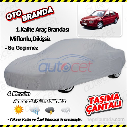 Autocet Volkswagen Bora Araca Özel Oto Brandası (Miflonlu, Dikişsiz) 4154A