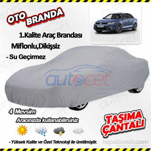 Autocet Volkswagen Jetta Araca Özel Oto Brandası (Miflonlu, Dikişsiz) 4158A