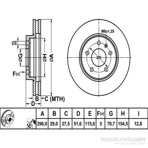 Bosch - Fren Diski Ön Chevrolet Captıva, Opel Antara - Bsc 0 986 479 267