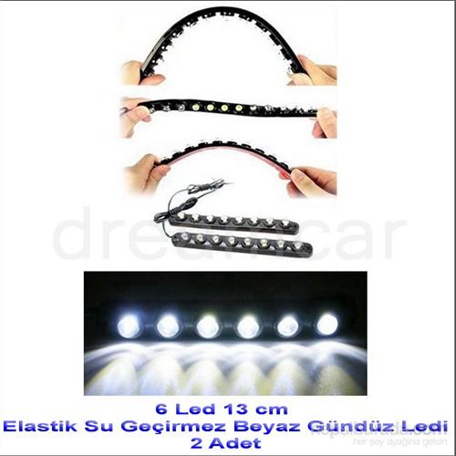 Dreamcar 6 Canon Beyaz Ledli Elastik Daylight 13 cm 2 Adet 56501