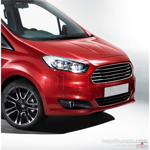 Ford Courier 2014 Model Ve Üzeri Krom Sis Farı Çerçevesi 2 Parça P.Çelik