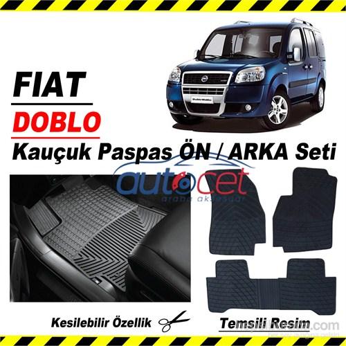 Fiat Doblo Kauçuk Ön / Arka Araca Özel Paspas Seti 3551a