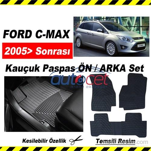 Ford Focus C-MAX Kauçuk Ön / Arka Araca Özel Paspas Seti 3559a