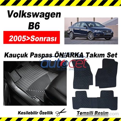 Volkswagen Passat B6 2005> Kauçuk Ön / Arka Araca Özel Paspas Seti