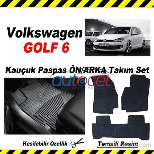 Volkswagen GOLF 6 Kauçuk Ön / Arka Araca Özel Paspas Seti