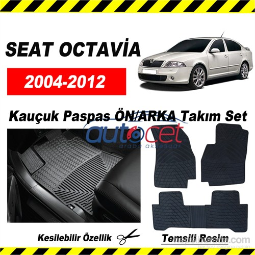 SEAT OCTAVİA 2004-2012 Kauçuk Ön / Arka Araca Özel Paspas Seti