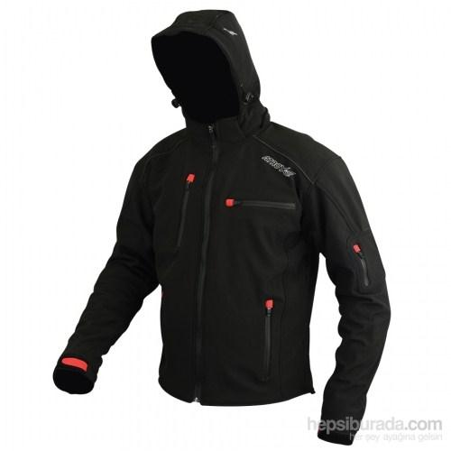 MX70 Kapşonlu Korumalı Mont (Siyah)